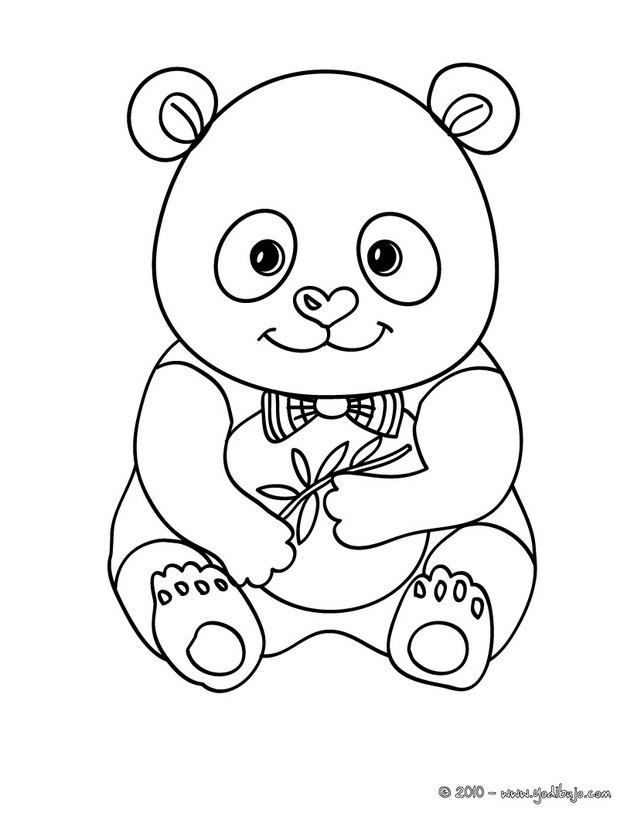 Dibujos para colorear oso panda gigante - es.hellokids.com