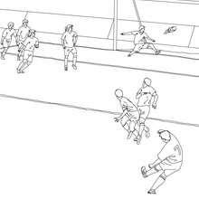 Dibujo para colorear : Marcar un gol
