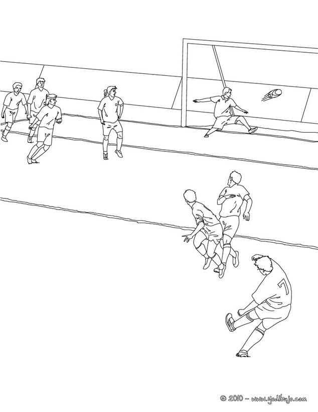 Dibujos para colorear marcar un gol - es.hellokids.com