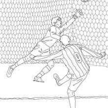 Dibujo de un GOL - Dibujos para Colorear y Pintar - Dibujos para colorear DEPORTES - Dibujos de FÚTBOL para colorear - Dibujos para colorear MUNDIAL DE FUTBOL - Colorear PORTERIA DE FUTBOL