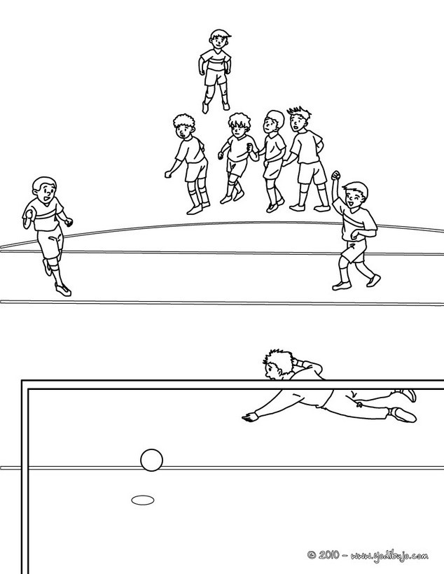 Dibujos para colorear estadio de fútbol - es.hellokids.com