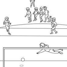 Dibujo para colorear : Tirar un penalti