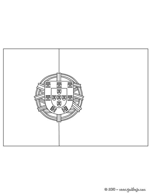 Dibujos para colorear bandera portugal - Drapeau portugais a imprimer ...