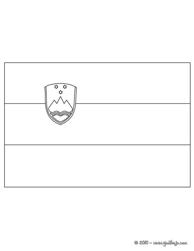 Dibujos para colorear bandera eslovenia - es.hellokids.com