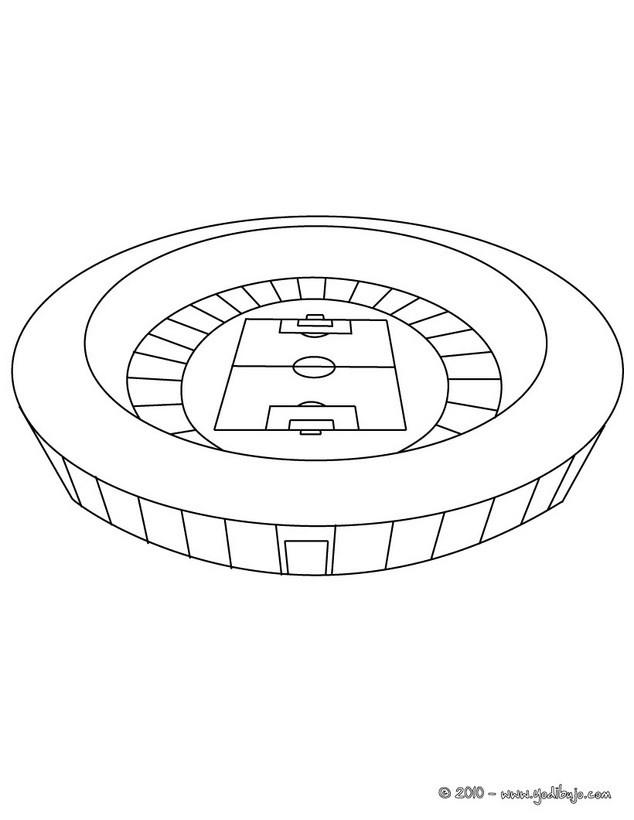 Dibujo para colorear : Estadio de Fútbol