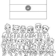Dibujo del EQUIPO ARGENTINA - Dibujos para Colorear y Pintar - Dibujos para colorear DEPORTES - Dibujos de FÚTBOL para colorear - EQUIPOS DE FUTBOL para colorear