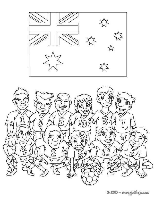 Dibujos para colorear equipo australia - es.hellokids.com