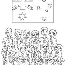 Dibujo del EQUIPO AUSTRALIA - Dibujos para Colorear y Pintar - Dibujos para colorear DEPORTES - Dibujos de FÚTBOL para colorear - EQUIPOS DE FUTBOL para colorear