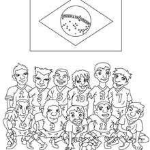 Dibujo del EQUIPO BRAZIL - Dibujos para Colorear y Pintar - Dibujos para colorear DEPORTES - Dibujos de FÚTBOL para colorear - EQUIPOS DE FUTBOL para colorear