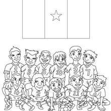 Dibujo del EQUIPO CAMERUN - Dibujos para Colorear y Pintar - Dibujos para colorear DEPORTES - Dibujos de FÚTBOL para colorear - EQUIPOS DE FUTBOL para colorear