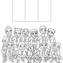 Dibujo del EQUIPO FRANCIA - Dibujos para Colorear y Pintar - Dibujos para colorear DEPORTES - Dibujos de FÚTBOL para colorear - EQUIPOS DE FUTBOL para colorear
