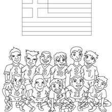 Dibujo del EQUIPO GRECIA - Dibujos para Colorear y Pintar - Dibujos para colorear DEPORTES - Dibujos de FÚTBOL para colorear - EQUIPOS DE FUTBOL para colorear