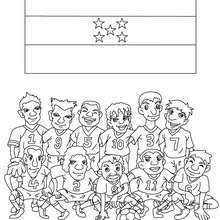 Dibujo del EQUIPO HONDURAS - Dibujos para Colorear y Pintar - Dibujos para colorear DEPORTES - Dibujos de FÚTBOL para colorear - EQUIPOS DE FUTBOL para colorear