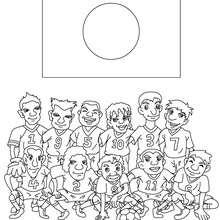 Dibujo del EQUIPO JAPON - Dibujos para Colorear y Pintar - Dibujos para colorear DEPORTES - Dibujos de FÚTBOL para colorear - EQUIPOS DE FUTBOL para colorear