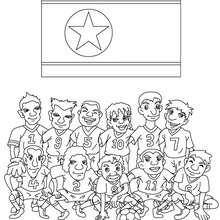 Dibujo del EQUIPO COREA - Dibujos para Colorear y Pintar - Dibujos para colorear DEPORTES - Dibujos de FÚTBOL para colorear - EQUIPOS DE FUTBOL para colorear