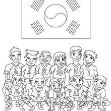 Dibujo del EQUIPO REPUBLICA DE COREA - Dibujos para Colorear y Pintar - Dibujos para colorear DEPORTES - Dibujos de FÚTBOL para colorear - EQUIPOS DE FUTBOL para colorear