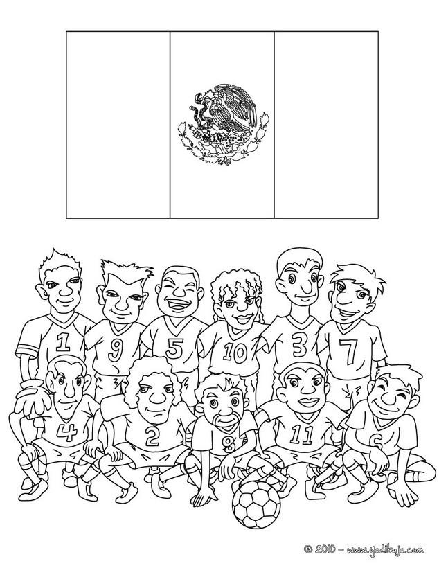 Dibujos para colorear equipo mexico - es.hellokids.com