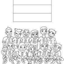 Dibujo del EQUIPO PAISES BAJOS - Dibujos para Colorear y Pintar - Dibujos para colorear DEPORTES - Dibujos de FÚTBOL para colorear - EQUIPOS DE FUTBOL para colorear
