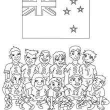 Dibujo del EQUIPO NUEVA ZELANDIA - Dibujos para Colorear y Pintar - Dibujos para colorear DEPORTES - Dibujos de FÚTBOL para colorear - EQUIPOS DE FUTBOL para colorear