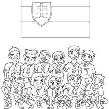 Dibujo del EQUIPO ESLOVAQUIA - Dibujos para Colorear y Pintar - Dibujos para colorear DEPORTES - Dibujos de FÚTBOL para colorear - EQUIPOS DE FUTBOL para colorear