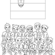 Dibujo del EQUIPO ESLOVENIA - Dibujos para Colorear y Pintar - Dibujos para colorear DEPORTES - Dibujos de FÚTBOL para colorear - EQUIPOS DE FUTBOL para colorear