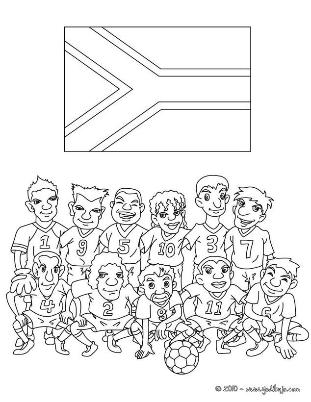 Dibujos para colorear equipo sudafrica - es.hellokids.com