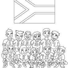 Dibujo del EQUIPO SUDAFRICA - Dibujos para Colorear y Pintar - Dibujos para colorear DEPORTES - Dibujos de FÚTBOL para colorear - EQUIPOS DE FUTBOL para colorear