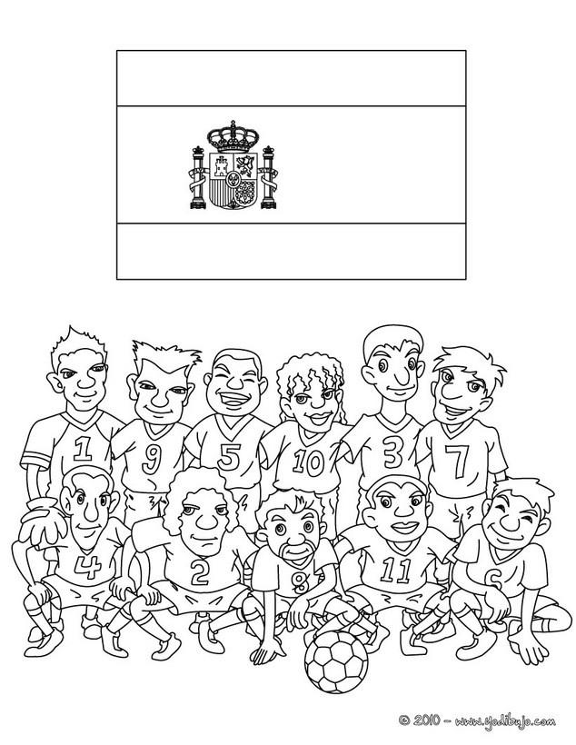 Dibujo para colorear : EQUIPO ESPAÑA