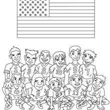 Dibujo del EQUIPO ESTADOS UNIDOS - Dibujos para Colorear y Pintar - Dibujos para colorear DEPORTES - Dibujos de FÚTBOL para colorear - EQUIPOS DE FUTBOL para colorear