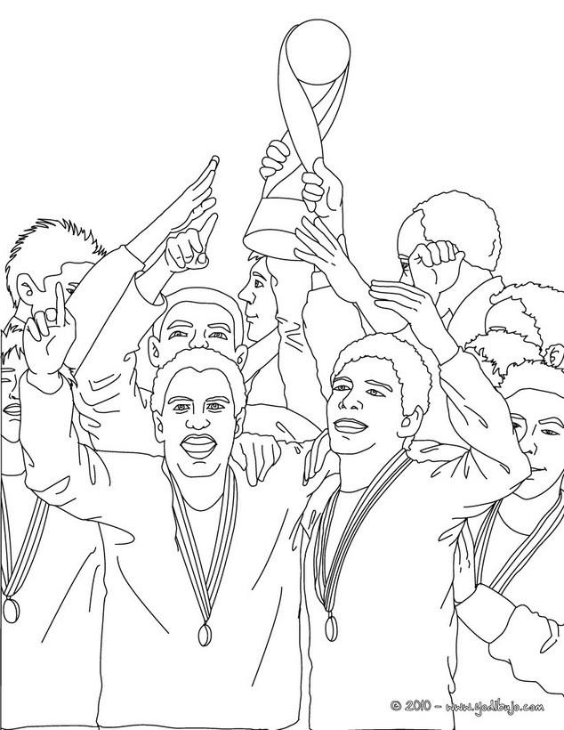 Dibujos para colorear equipo ganador copa mundial - es.hellokids.com