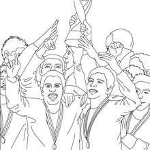 Dibujo de EQUIPO GANADOR COPA MUNDIAL - Dibujos para Colorear y Pintar - Dibujos para colorear DEPORTES - Dibujos de FÚTBOL para colorear - EQUIPOS DE FUTBOL para colorear