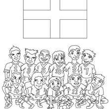 Dibujo del EQUIPO INGLATERRA - Dibujos para Colorear y Pintar - Dibujos para colorear DEPORTES - Dibujos de FÚTBOL para colorear - EQUIPOS DE FUTBOL para colorear