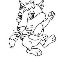 Dibujo cria de LOBO - Dibujos para Colorear y Pintar - Dibujos para colorear ANIMALES - Dibujos ANIMALES SALVAJES para colorear - Dibujos ANIMALES DE LA SELVA para colorear - Colorear LOBO