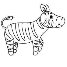 Dibujo CACHORRO CEBRA - Dibujos para Colorear y Pintar - Dibujos para colorear ANIMALES - Dibujos ANIMALES SALVAJES para colorear - Dibujos ANIMALES DE LA SABANA para colorear - Colorear CEBRA