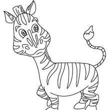 Dibujo CEBRA - Dibujos para Colorear y Pintar - Dibujos para colorear ANIMALES - Dibujos ANIMALES SALVAJES para colorear - Dibujos ANIMALES DE LA SABANA para colorear - Colorear CEBRA