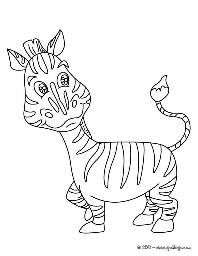 Dibujos ANIMALES DE LA SABANA para colorear, CEBRA para imprimir
