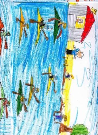 Kayak ( Abedessalann Bnamar, 7 años)