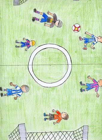 Dibujo de Abel Romero - 8 años