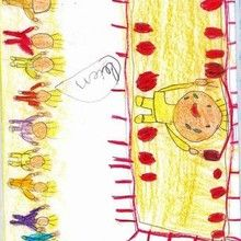 Ganador de la medalla (Adrian, 7 años) - Dibujar Dibujos - Dibujos de NIÑOS - Dibujos de DEPORTES - Dibujos de los juegos olimpicos del CEIP Alvaro Cunqueiro - Mondoleño