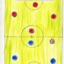 Terreno de futbol (Adrian Lopez, 7 años) - Dibujar Dibujos - Dibujos de NIÑOS - Dibujos de DEPORTES - Dibujos de los juegos olimpicos del CEIP Alvaro Cunqueiro - Mondoleño