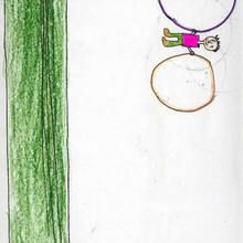 Ilustración infantil : Gimnasio (Angel Rodriguez, 9 años)