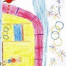 Carrera a pie ( Anuar Trih, 8 años) - Dibujar Dibujos - Dibujos de NIÑOS - Dibujos de DEPORTES - Dibujos de los juegos olimpicos del CEIP Alvaro Cunqueiro - Mondoleño