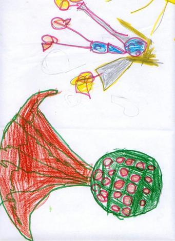 Dibujo de Briseida Afonso - 4 años