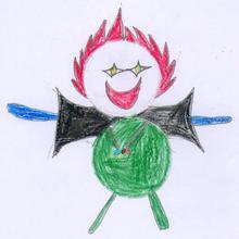 Medallista olimpico ( Damian Duno, 10 años) - Dibujar Dibujos - Dibujos de NIÑOS - Dibujos de DEPORTES - Dibujos de los juegos olimpicos del CEIP Rosalia Castro - O Grove