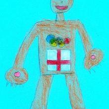 Deportista olimpico (david Bermudez, 9 años) - Dibujar Dibujos - Dibujos de NIÑOS - Dibujos de DEPORTES - Dibujos de los juegos olimpicos del CEIP Rosalia Castro - O Grove
