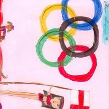 Inauguracion olimpiadas (iria Nunes, 9 años) - Dibujar Dibujos - Dibujos de NIÑOS - Dibujos de DEPORTES - Dibujos de los juegos olimpicos del CEIP Rosalia Castro - O Grove