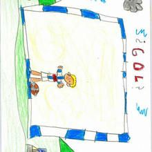 Gol (Ismael Palomino, 7 años) - Dibujar Dibujos - Dibujos de NIÑOS - Dibujos de DEPORTES - Dibujos de los juegos olimpicos del CEIP Alvaro Cunqueiro - Mondoleño