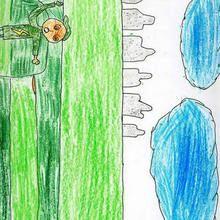 Ilustración infantil : Atletismo (Ivan Gonzalez, 9 años)