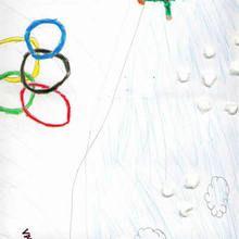 Ilustración infantil : Esqui (Ivan Lopez, 8 años)