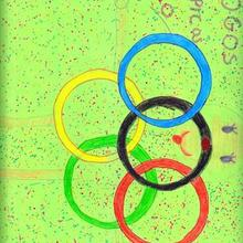 Anillos olimpicos 2012 (Julia Devesa, 10 años) - Dibujar Dibujos - Dibujos de NIÑOS - Dibujos de DEPORTES - Dibujos de los juegos olimpicos del CEIP Rosalia Castro - O Grove